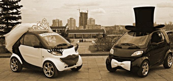 Оформление автомобиля для свадьбы